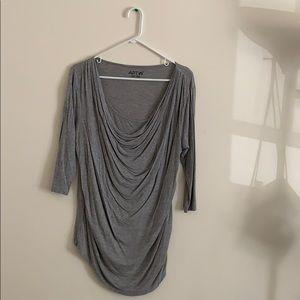 3/$18 Gray quarter sleeve blouse